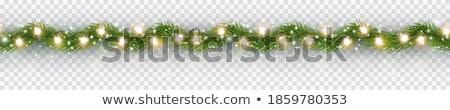 christmas border with xmas garland stock photo © adamson