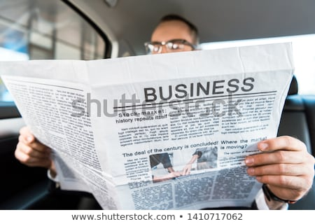 jornal · seguro · notícia · automático · manchete · escritório - foto stock © a2bb5s