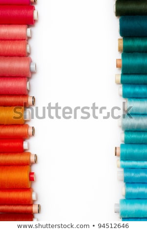 Colorful spools of thread against a white background Stock photo © wavebreak_media