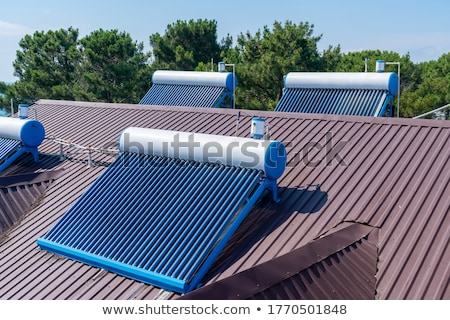 солнечной · отопления · панель · массив · крыши · стекла - Сток-фото © Rob300