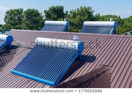 Solaire chauffage panneau toit verre Photo stock © Rob300