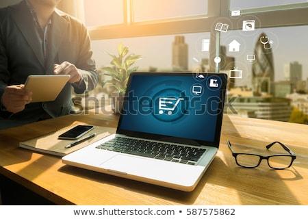 Eコマース ノートパソコン 画像 ノートパソコンのキーボード ショッピング ビジネス ストックフォト © manaemedia