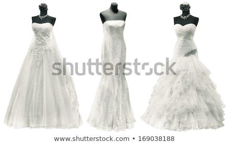 Elegant wedding dress on a mannequin, isolated on white Stock photo © gsermek