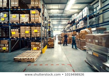 Industriële magazijn foto intern business hout Stockfoto © yuliang11