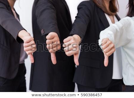 masculino · mão · polegar · para · baixo · assinar - foto stock © joseph73