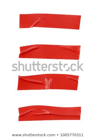 赤 · 孤立した · 白 · オフィス · 紙 - ストックフォト © witthaya