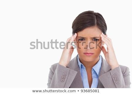 女性 頭痛 白 手 ストックフォト © wavebreak_media