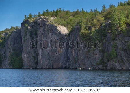 Kayaks at Bon Echo Cliffs Stock photo © Gordo25