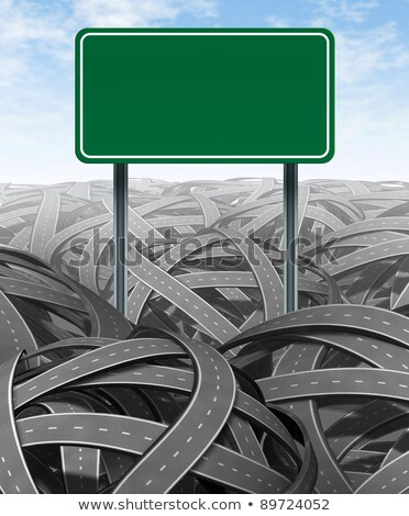 Challenges and obstacles with blank highway sign Stock photo © Lightsource
