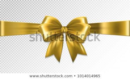 Christmas Gold bow border decoration Stock photo © Lightsource