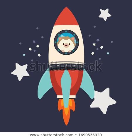 Egel bereiken star natuur oor cartoon Stockfoto © Genestro