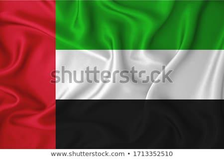 kumaş · doku · bayrak · Birleşik · Arap · Emirlikleri · mavi · yay - stok fotoğraf © maxmitzu