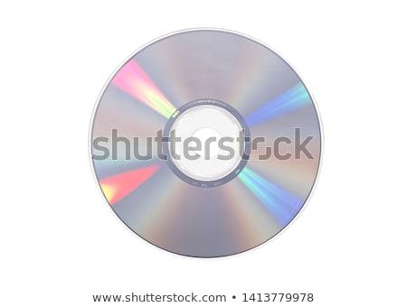Geïsoleerd compact disc kleurrijk cd witte gegevens Stockfoto © eldadcarin