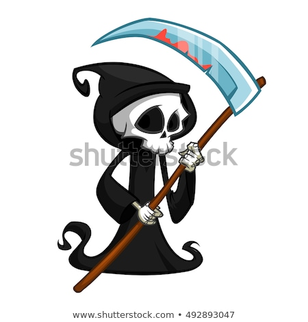 Cartoon Grim - Vector Illustration Stock photo © indiwarm
