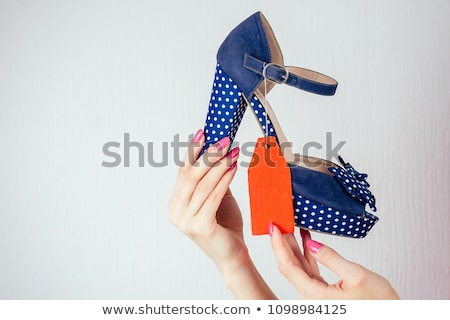 Labels price with woman summer clothes and accessories Stock photo © Wikki