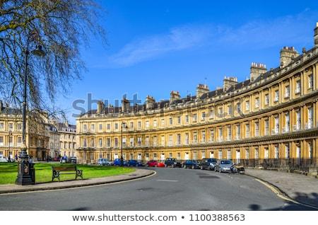 Fürdőkád utca Anglia épület otthon kék Stock fotó © Snapshot
