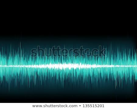 Blauw geluidsgolf witte eps8 vector bestand Stockfoto © beholdereye