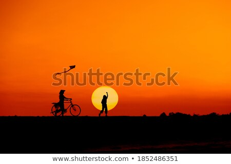 Bicycle with person in motion in Vietnam, Asia. Stock photo © kyolshin