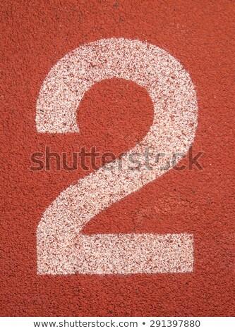 número · dois · corrida · seguir · atletismo - foto stock © stevanovicigor