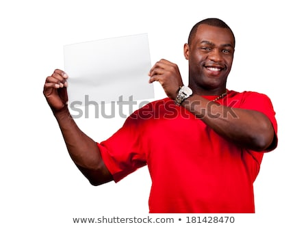Mosolyog lezser 30-as évek fickó tart felirat Stock fotó © eldadcarin