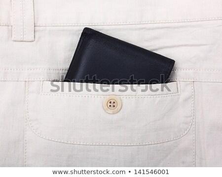 Siyah cüzdan dışarı geri cep kot Stok fotoğraf © snyfer