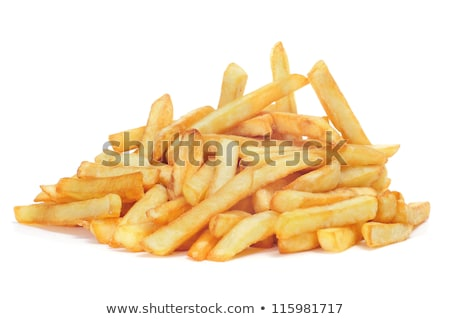 croustillant · frites · françaises · isolé · blanche · macro · or - photo stock © ozaiachin