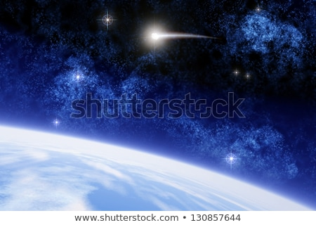 Cosmic Bright Background, space planets collision Stock photo © Luppload