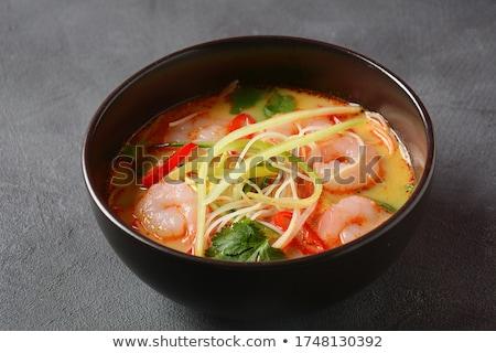 クリーミー · スープ · 緑 · セラミック · 白 · プレート - ストックフォト © doupix