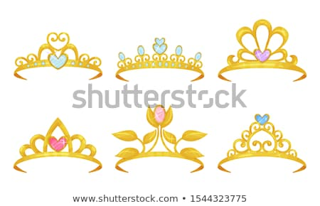 Pretty diamond diadem, vector illustration  Stock photo © carodi