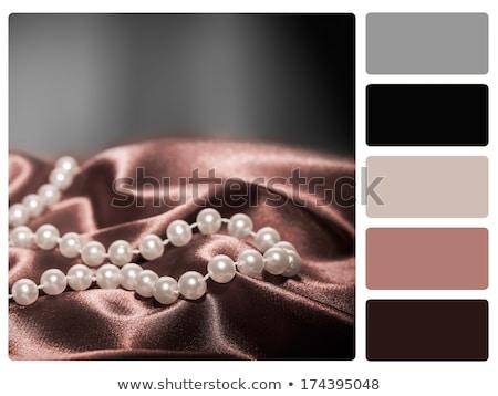 жемчуга · шелковые · ткань · ожерелье · женщины · Sexy - Сток-фото © redpixel