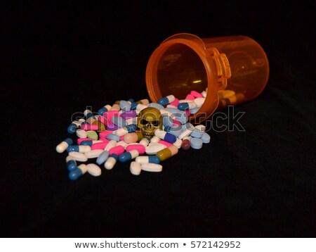 Pillen alle drugs medische achtergrond wetenschap Stockfoto © radivoje