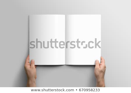 detail · koffie · notepad · potlood - stockfoto © simply