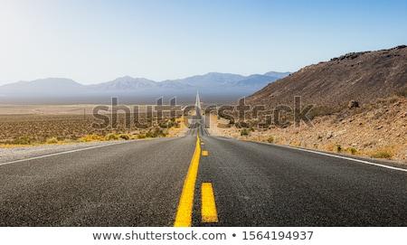 Carretera muerte valle parque California recto Foto stock © lunamarina