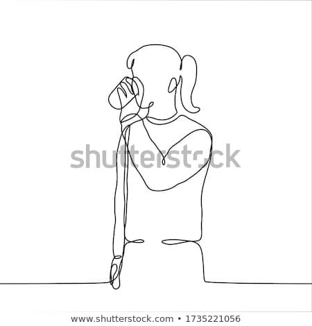 Silhouet man dranken water dorst jonge man Stockfoto © pxhidalgo