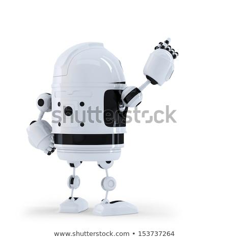 робота указывая невидимый объект вид сзади изолированный Сток-фото © Kirill_M