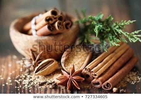 Fűszer karácsony dekoratív tányér gyömbér citrom Stock fotó © MKucova