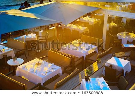 outdoor · restaurant · terras · meubels · zee · reizen - stockfoto © joyr