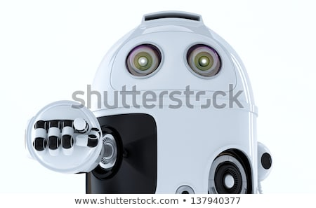 Android robot pointing at you. Stock photo © Kirill_M