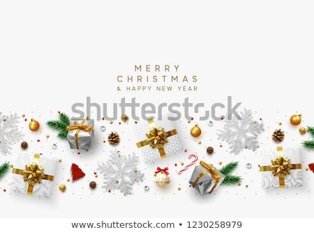 new year card with diamond christmas ball vector illustration stock photo © carodi