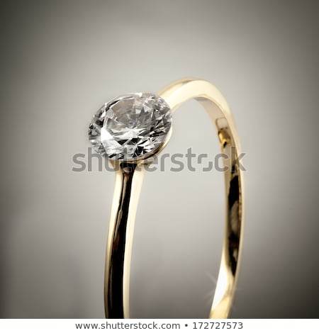 Stock photo: Close-up Of Diamonds Isolated Over Gray Background