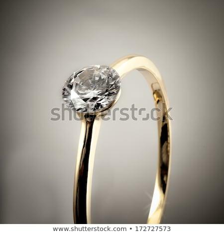 Primo piano diamanti isolato grigio pietra regalo Foto d'archivio © AndreyPopov