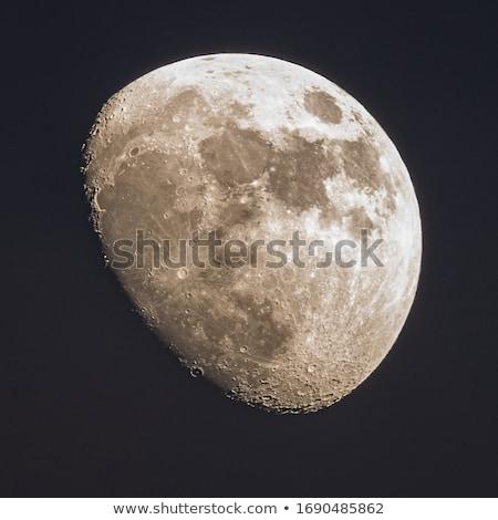 Luna immagine teleobiettivo lenti foto presto Foto d'archivio © lunamarina