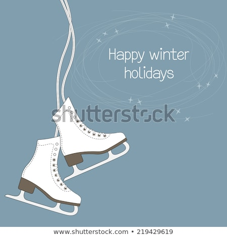 descobrir · gelo · patins · par · profissional - foto stock © andreypopov