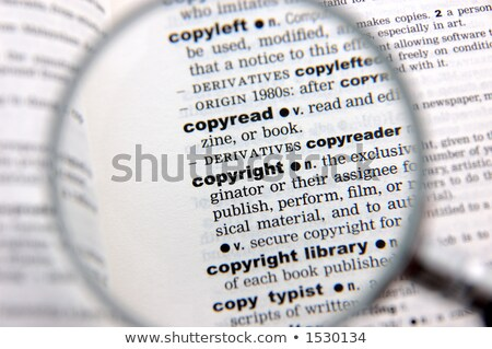 Stock photo: Copyright Dictionary Definition