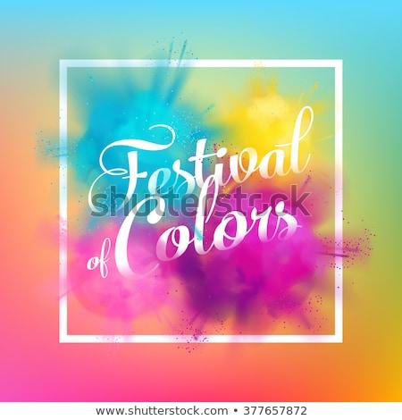 Gyönyörű por színes fesztivál vektor művészet Stock fotó © bharat