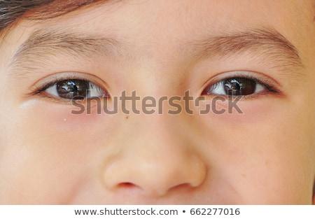 Sorridente bonitinho menino olhos castanhos sorrir olhos Foto stock © meinzahn
