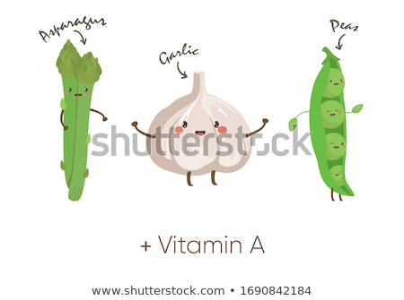 Asparagus Character Stock photo © Lightsource