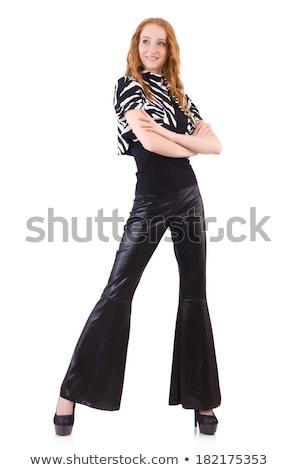 Femme noir cloche inférieur pants Photo stock © Elnur