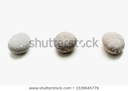 mineral · aislado · negro · blanco · rock · cristal - foto stock © natika