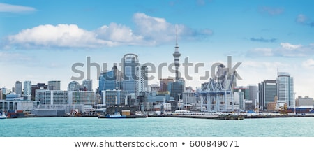 Nueva · Zelandia · horizonte · reflexión · agua · cielo · ciudad - foto stock © compuinfoto